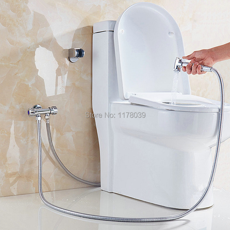 Reliable All Copper Toilet Spray Gun Set,wall-mounted Toilet Bidet Spray Nozzle Cleaning Baby Ass,brass Bidet Wash Women Butt,j17288 Discounts Sale