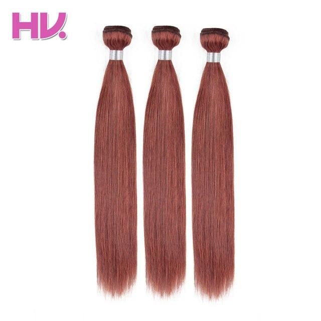 Hair Villa 3 Bundles Straight Hair Color 33 Brazilian Human Hair