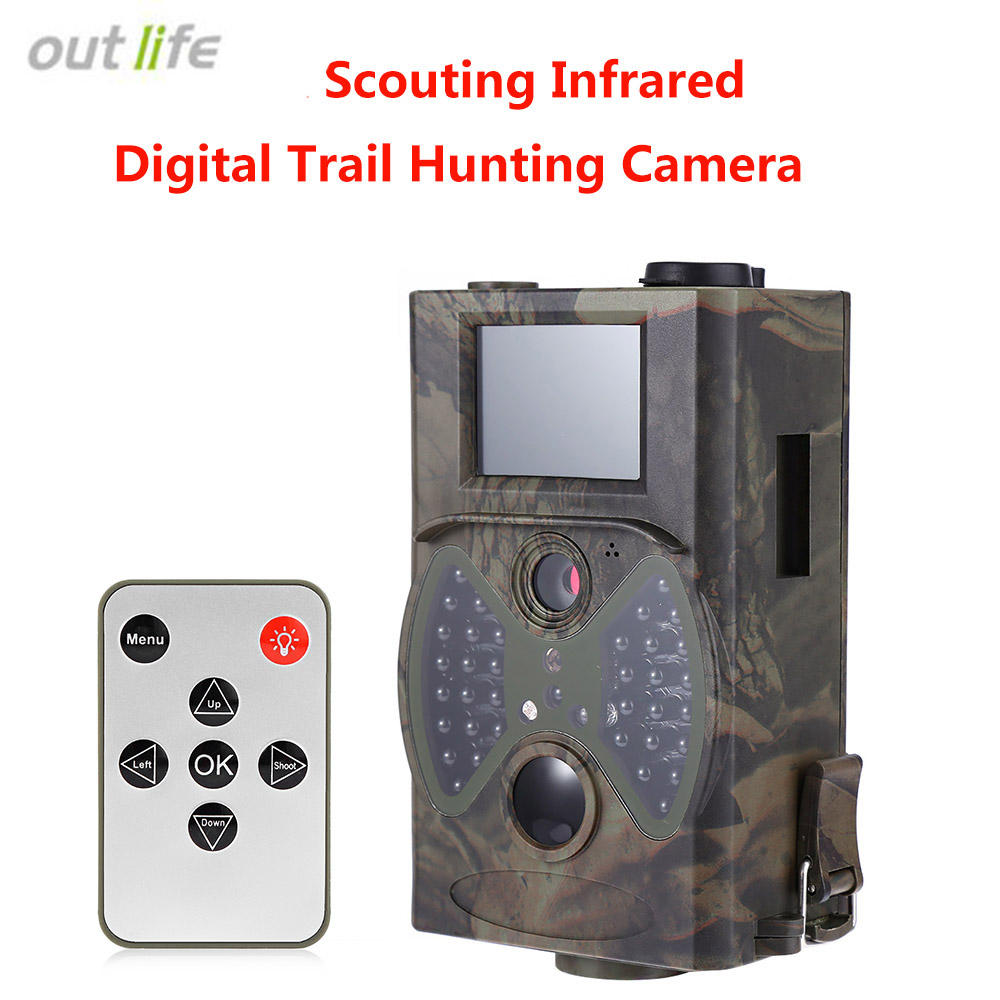 HC300A Hunting Camera Scouting 12MP HD 1080P Digital Infrared Trail Camera Ultra Small Night Vision Outdoor Hunting Trail Camera ccd diy hunting night vision camera with 16mm lens infrared night vision industrial camera 0 0001lux ultra low light camera