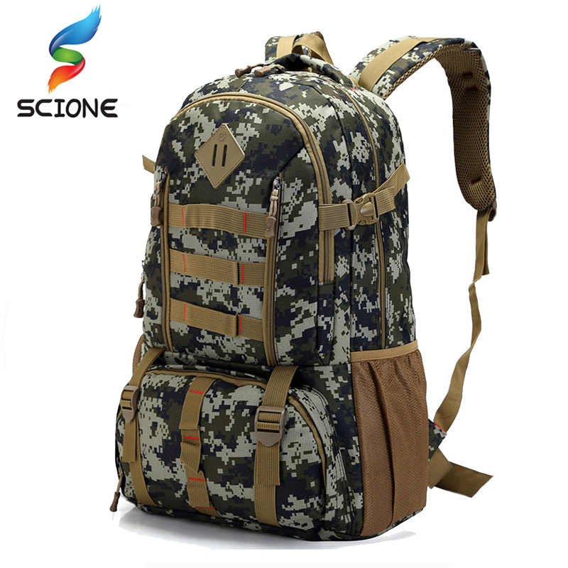 3ef68c60c672 Hot Top Quality Large 50L Waterproof Molle Military Tactical Backpack  Hunting Hiking Camping Rucksack Army Backpack