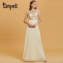 Вечернее платье tanpell с блестками цветочным принтом без рукавов