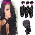 New Style Malaysian Loose Wave Virgin Hair 3 Bundles Loose Wave with Closure Vip Beauty Hair Wet and Wavy Human Hair Cheap Hair