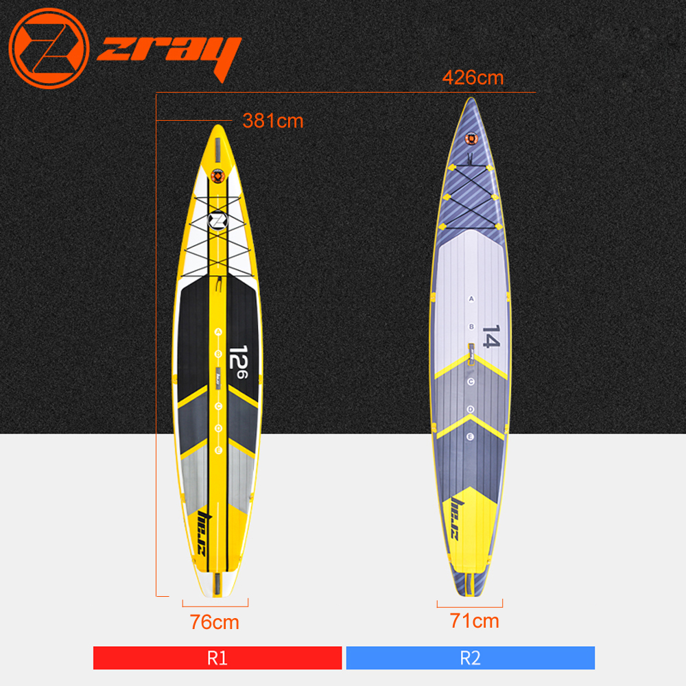 New design Zray R1 R2 inflatable race sup stand up paddle board surfing board drop stitch inflatable stand up paddle boards inflatable surfing board