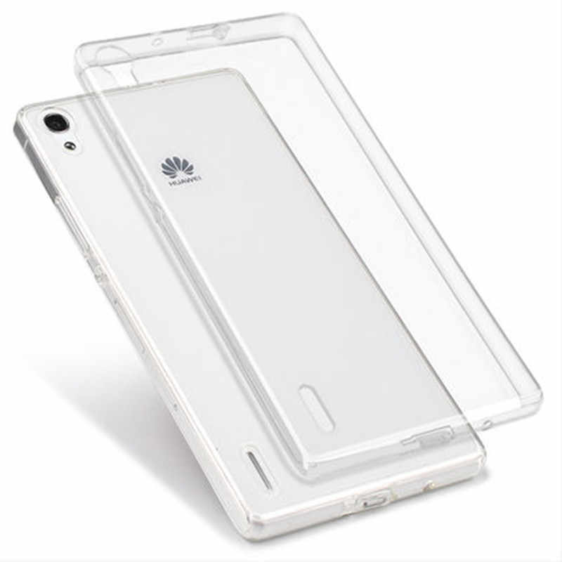 Ultra Thin Soft Transparent TPU Case For Huawei P7 P8 Y635 Mate 8 Honor 6 3C 5X V8 7i Clear Silicone Case