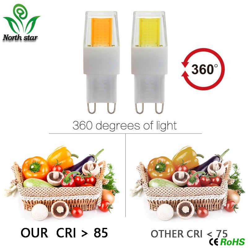 2017 G9 החדש LED מנורת הנורה COB LED 5 W 6 W 7 W 8 W 9 W 10 W 220 V LED נברשת אור להחליף נורות G9 הלוגן G9 אור COB ניתן לעמעום