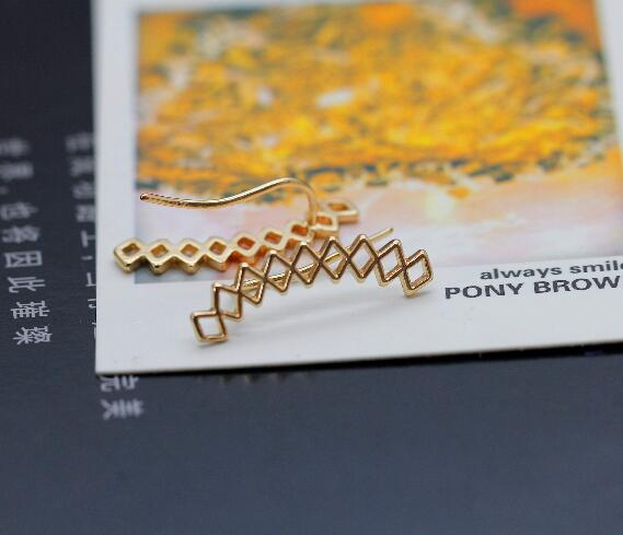 Jisensp modni uho pljuska geometrijske naušnice za žene penjači - Modni nakit - Foto 4