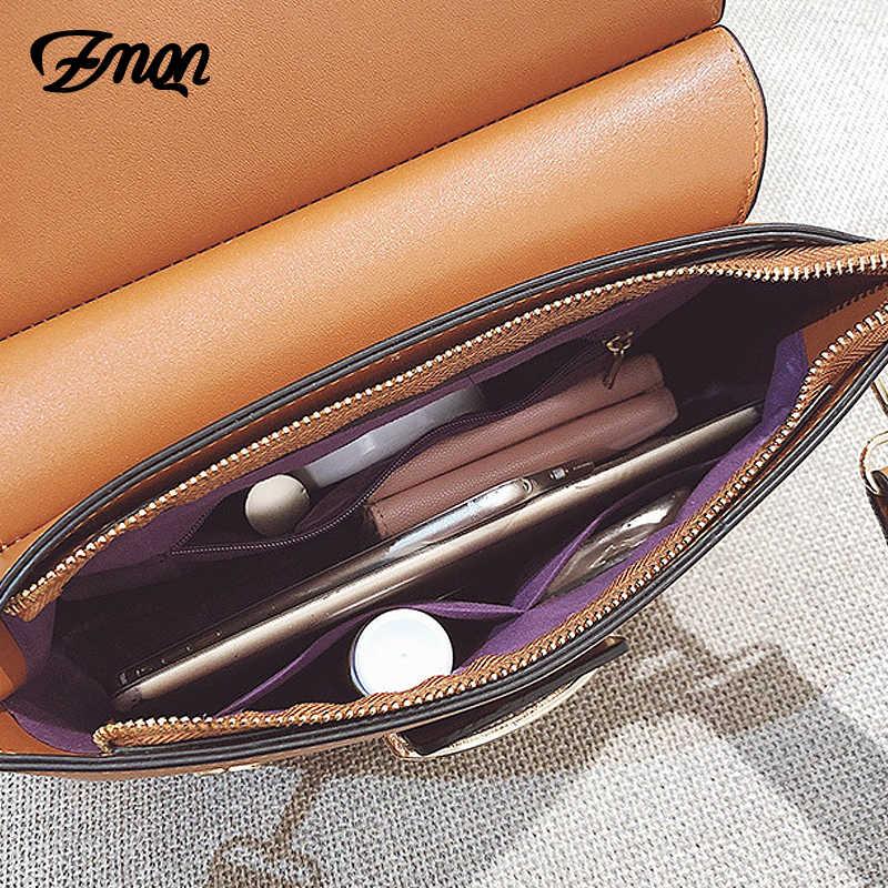 4a210a885984 ... Zmqn Для женщин сумка Винтаж сумки на плечо 2018 из искусственной кожи  с пряжкой кожаные сумочки ...