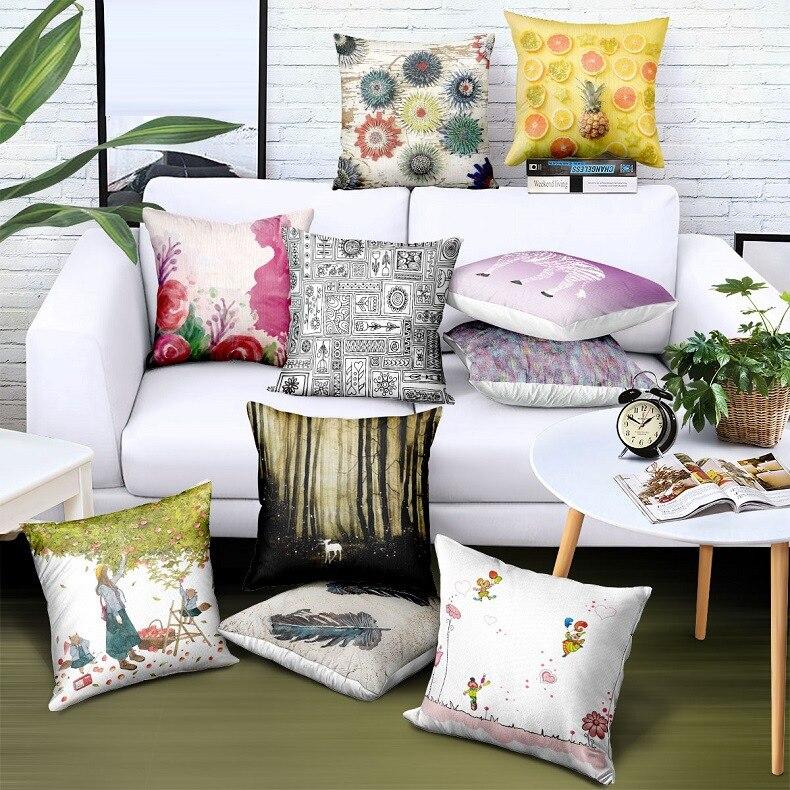 Customize Wholesale Satin Pillow Case 45*45 Digital Print Logo Brand Advertising Gift Cover Drop Shipping
