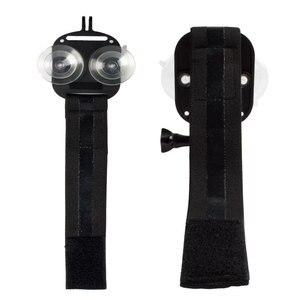 Image 4 - 2 in1ユニバーサル電話のストラップヘッドストラップマウント強力な吸引カップ + 胸stapマウント移動プロsjcam xiaoyiアクションカメラ