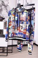 Новинка 2018 Высокое качество модные Для мужчин наборы для подиума летние человек Роскошные брендовые Мужская одежда A09299