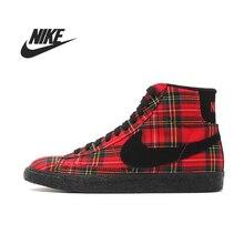 D'origine Nike WMNS BLAZER MID TEXTILE PRM femmes de Planche À Roulettes Chaussures 685207-600 Haute-top sneakers(China (Mainland))