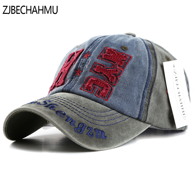 ZJBECHAHMU Hats Spring Letter Cotton Baseball Caps for Men Women Snapback Hat Summer Adjustable Solid Cap Hip Hop Fitted Cap Hat in Men 39 s Baseball Caps from Apparel Accessories