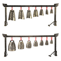 Archaistic Chime Exquisite Chime Bells Musical Instrument Model Decoration Set Of Bells Single Layer With 7