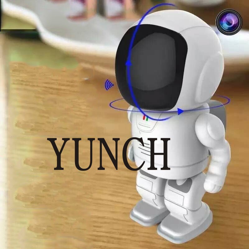 bilder für YUNCH Drahtlose MINI-IP-KAMERA Roboter Vision Audio-aufnahme Netzwerk CCTV Onvif Indoor überwachung WIFI Überwachungskamera