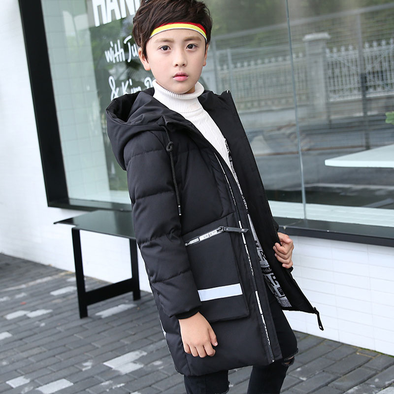 2017 High Quality Hooded Thick Boys Winter Down Coats For Kids Big Pocket Jackets Girls Clothes Children Tops Outerwear Clothing high quality children down coats 2017