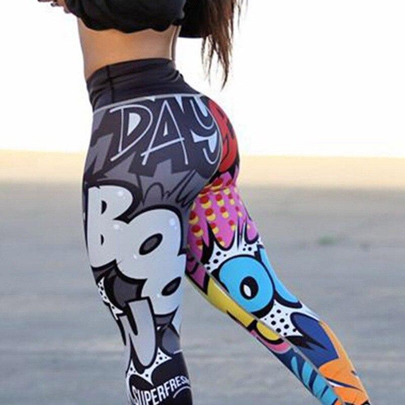 Women Digital Printing   Leggings   Workout   Leggings   High Waist Push Up Leggins Mujer Fitness   Leggings   Women'S Pants