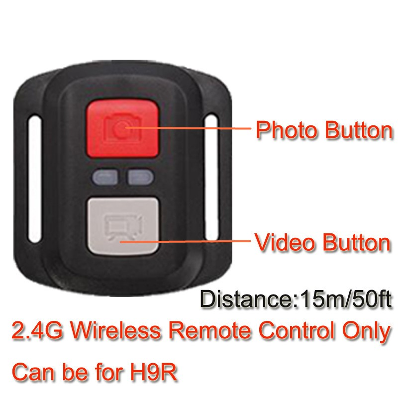 Original eken h9r h9 action camera ultra hd 4k sports camcorder remote wif mini helmet cam 2.0 170d wide angle for rc drone