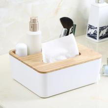Modern Fashion Creative Wooden Tissue Box Container Towel Napkin Tissue Holder Paper Dispenser Plastic Tissue Holder Case цена и фото