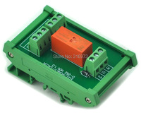 DIN Rail Mount Passive Bistable Latching DPDT 8A Power Relay Module 24V Version