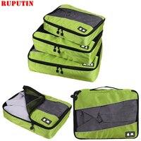 RUPUTIN 3 teile/satz Reise Gepäck Organizer Verpackung Cubes Set Atmungsaktives Mesh Lagerung Kleidung Tasche Wasserdichte Reise Zubehör