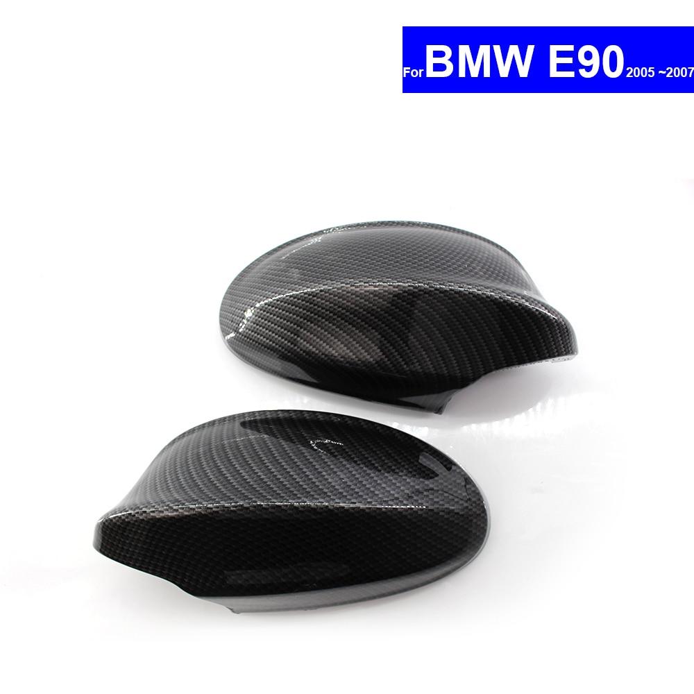 For BMW E90 2005 2006 2007 Car Rear View Side Mirror Cover Auto Reverse Mirror Shell Carbon top quality e90 carbon fiber auto side mirror cover car mirror covers for bmw e90 car mirror caps