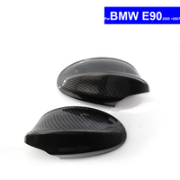 For BMW E90 2005 2006 2007 Car Rear View Side Mirror Cover Auto Reverse Mirror Shell Carbon