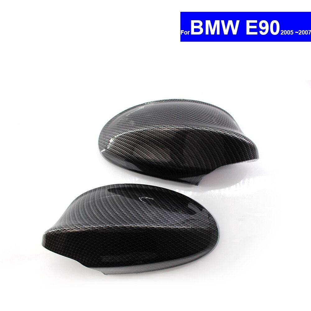 Pour BMW E90 2005 2006 2007 Vue Arrière de Voiture Side Mirror Cover Auto Inverse Miroir Shell Carbone