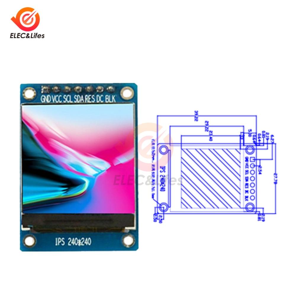 1,3 zoll IPS HD TFT ST7789 Stick IC 240*240 Serielle spi-schnittstelle 3,3 V Volle Farbe digital LCD OLED Bildschirm RGB dot matrix Modul