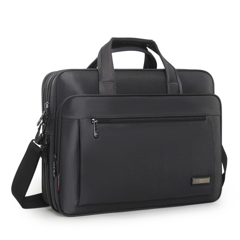 Large Capacity Gray Briefcase For Men 15.6 Inch Laptop Handbag Man's Business Oxford Computer Bag Male Messenger Bag Maletas Sac
