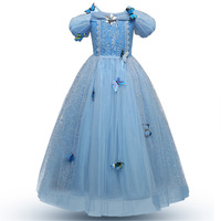 Baby Girls Anna Elsa Dress Butterfly Sequined Princess Cinderella Fancy Kids Clothes For Party Costume Snow