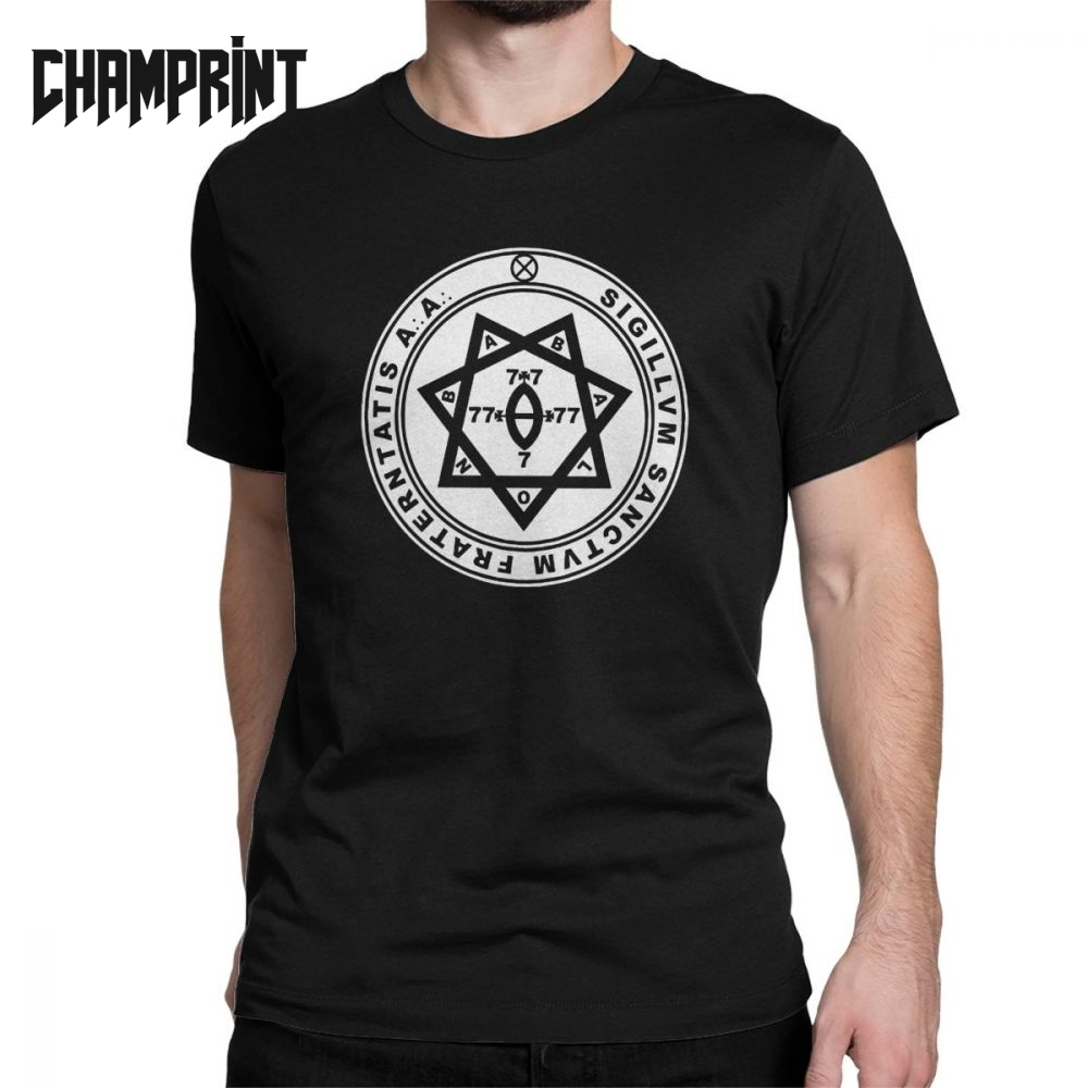 Aleister Crowley Seal Occult Thelema Men's T Shirts Magic Solomon Magical Occult Magick Demon Evil Tee Shirt Short Sleeve-in T-Shirts from Men's Clothing on AliExpress - 11.11_Double 11_Singles' Day 1