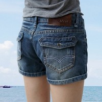 2015 New Fashion Women S Jeans Summer High Waist Stretch Denim Shorts Slim Korean Casual Women