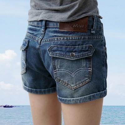 2017 Nova Moda das calças de brim das mulheres de Verão de Cintura Alta Shorts Jeans Stretch Magro Coreano mulheres Casuais Shorts Jeans Mais Quente tamanho