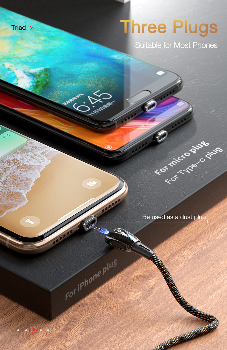 magnetic usb cable for iPhone Huawei Samsung Xiaomi LG  (14)