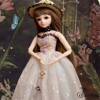 S8 Gurnier 1/3 60cm Josephina Doris BJD Dolls Free Shipping the Republic of China Era Young Girl Dressed Resin Lifelike Doll