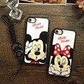 Para iphone7 7 plus 6/6 s 6 plus/6 splus 5 5S sí casos de dibujos animados de moda mickey mouse minie cubierta de tpu suave silicona case