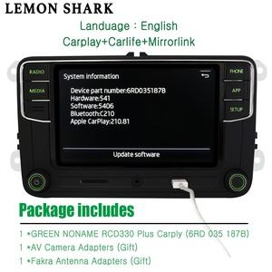 Image 2 - RCD330 בתוספת RCD330G Carplay MIB רכב רדיו Noname ירוק כפתור אור RCD 330G 6RD 035 187B 187 b עבור סקודה מעולה אוקטביה פאביה