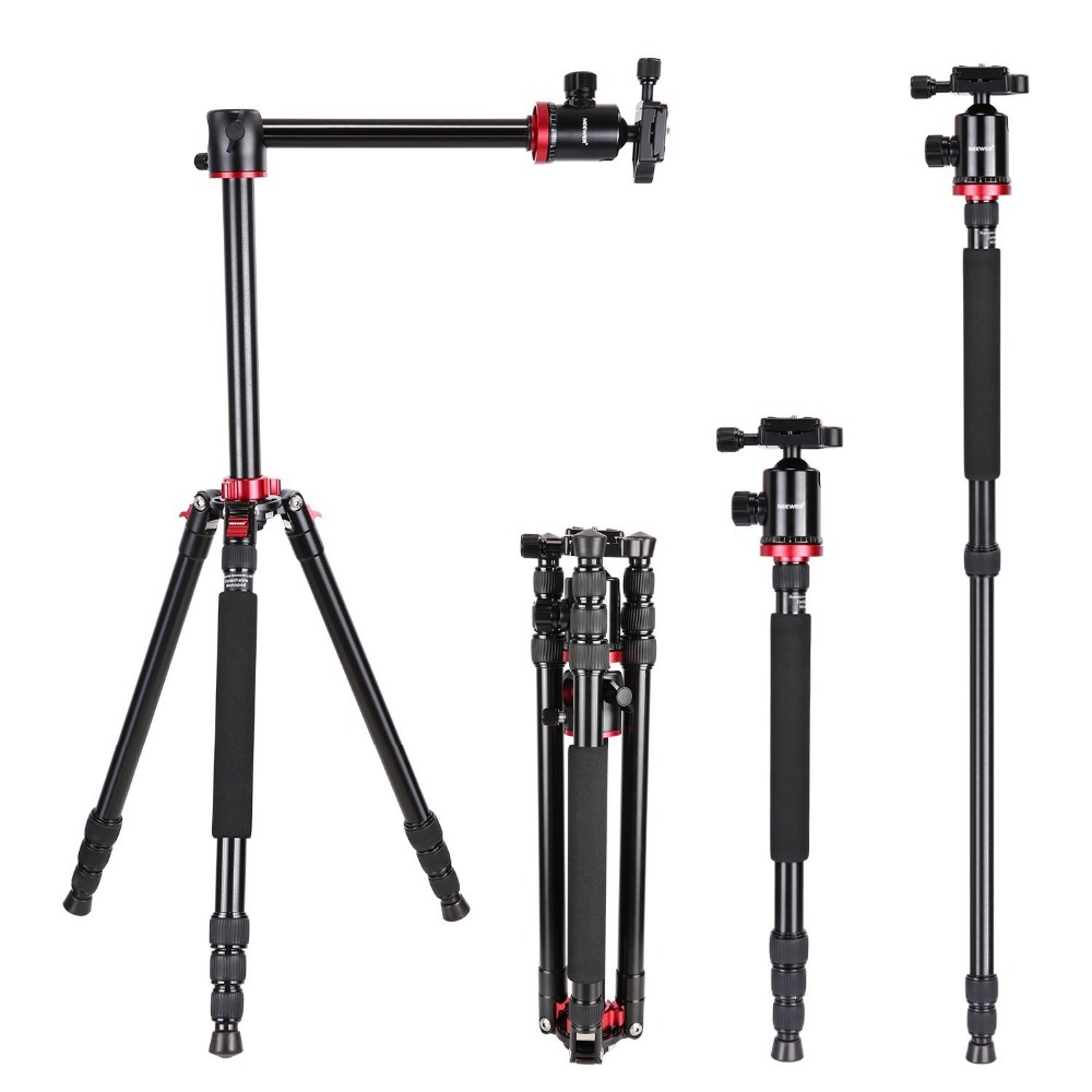 Neewer Camera Tripod Monopod with Rotatable Center Column for DSLR Camera Video Camcorder up to 26.5 poun