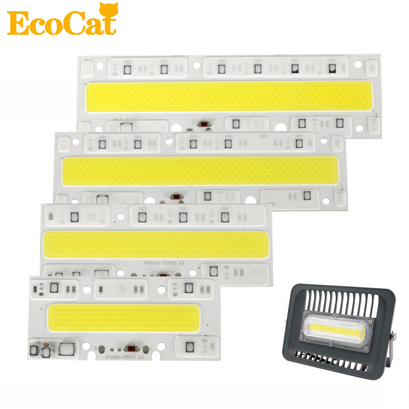 ECO Cat LED COB 220V Chips 30W 50W 70W 100W 150W LED Bulb Lamp Light Input Smart IC IP65 Fit For DIY LED Flood Light led cob bulb lamp 30w 50w led chip beads 220v input ip65 smart ic fit for diy led flood light cold white warm white
