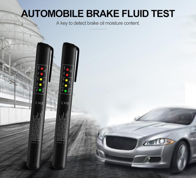 Auto Car Brake Fluid Tester 5LED Check Fluid Quality Indicator For DOT3/DOT4 Vehicle Diagnostic Testing Automotive MINI Pen