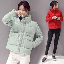 2016 Autumn Parka Cotton Padded Fashion Ultra Light Women Basic Coats
