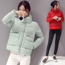 Cotton Padded Parka Sweet Style Ultra Light Winter Jacket Women