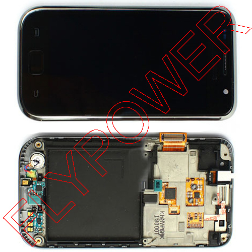 ФОТО For Samsung Galaxy S i9000 lcd screen with touch screen and frame digitizer assembly by free shipping; HQ