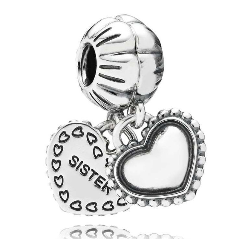 New Two-part Love Heart My Special Sister Pendant Beads Fit Pandora Bracelet Bangle Diy Jewelry 925 Sterling Silver Bead CharmNew Two-part Love Heart My Special Sister Pendant Beads Fit Pandora Bracelet Bangle Diy Jewelry 925 Sterling Silver Bead Charm