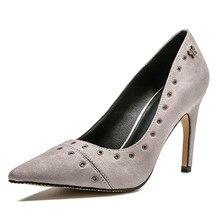 B1-3 tamaño 34-40 señoras comodidad bombas mujeres señaló los dedos de los  pies superficial zapato femenino 9 CM de alto de tacó. 7f67892342bd