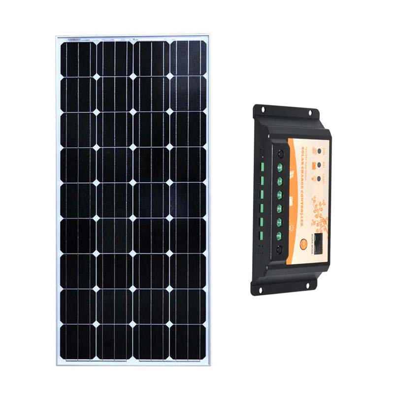Kit Solar 150 w 18v Solar Panel 12V Battery PWM Solar Charge Controller 12v/24v 20A RV Motorhome Caravanas Y Autocaravanas 20a daul battery solar charge controller duo battery charge controller 12v 24v solar panel battery charger for rv boats golf