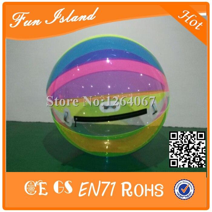 Livraison gratuite 1.8 m 3 pièces TPU gonflable eau jouets gonflable eau marche balle pour piscine