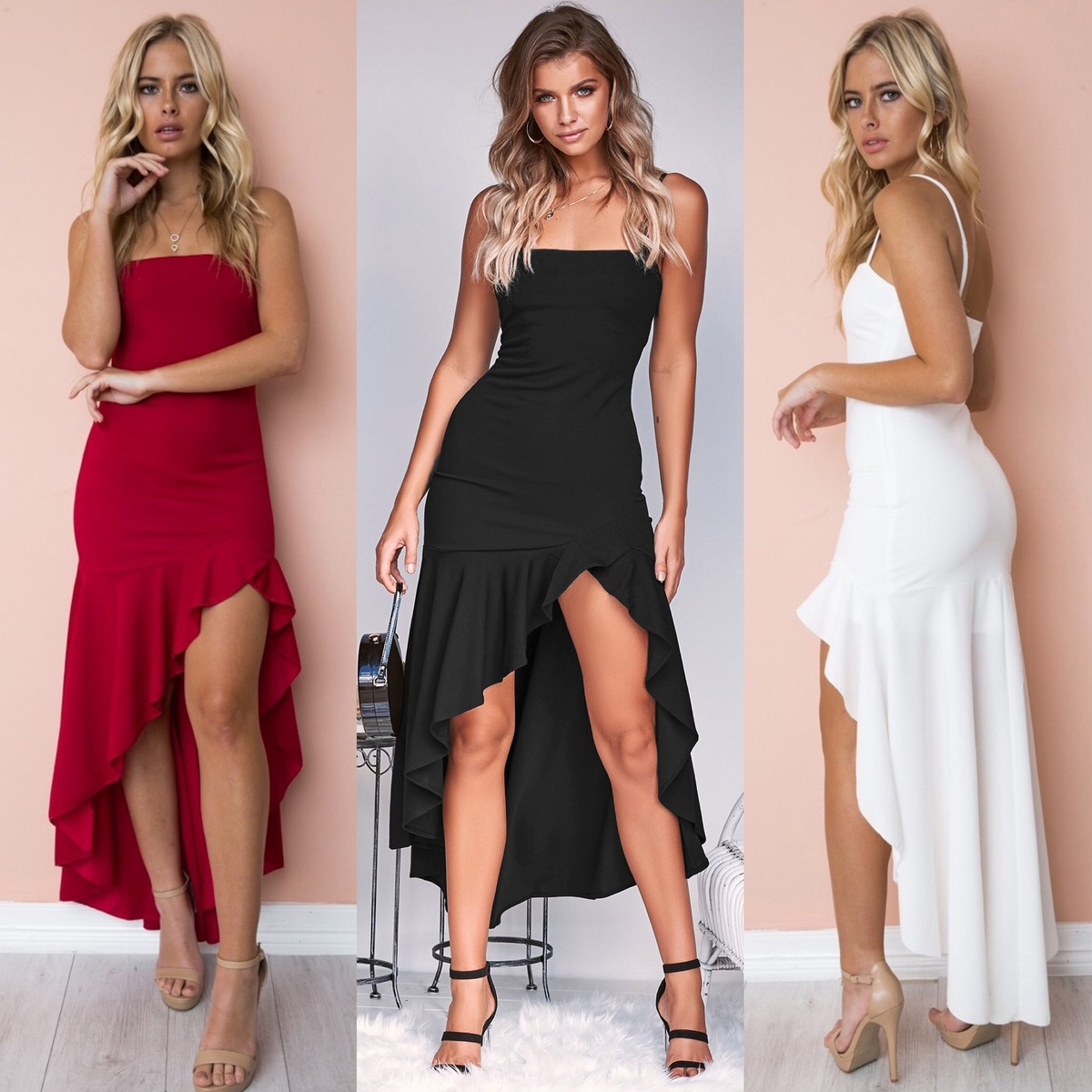 Cocktail Dresses New Elegant A Line Spaghetti Stra...