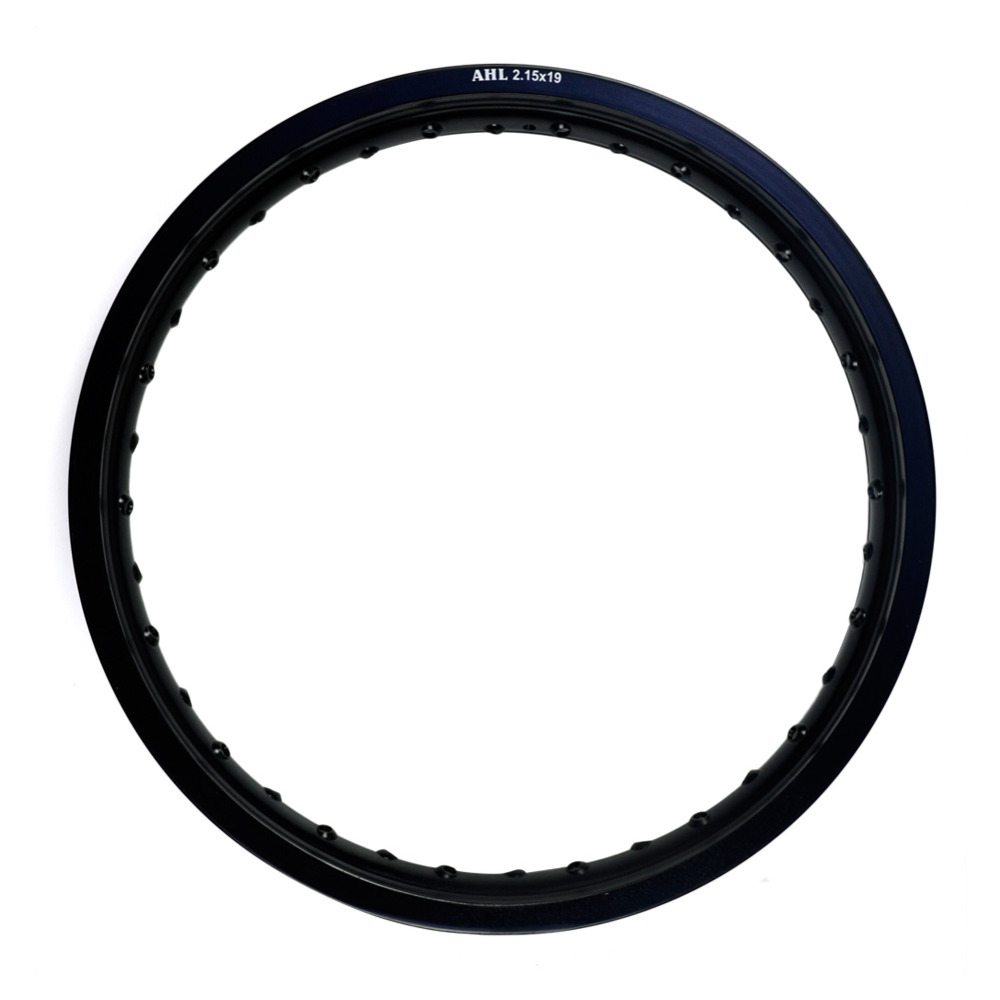 6061 Black / Silver Motorcycle Rim Aviation Aluminum Front Wheel Circle 2.15x19 32/36 Spoke Hole 215 x 19 2.15 19 High Strength black motorcycle front