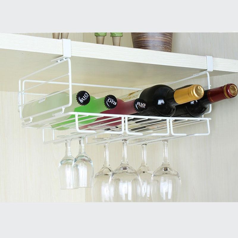 New 14 Wine Cup Storage Rack Hanging Gl Holder White Champagne Stemware Fashion Bar Bottle Organizer In Racks From Home
